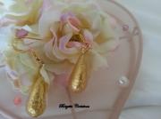 bijoux autres verre de murano boucles d oreil murano beads bo murano : LES GOUTTES D'OR