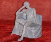 sculpture scene de genre reverie detente reverie relaxation : Rêveur