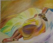 tableau nus sieste femme coussins : Indolence