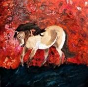 tableau animaux : Cheval de Feu