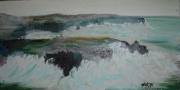 tableau marine ocean atlantique deferlante phare bretagne : Pointe du poulain