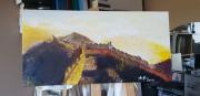 tableau scene de genre histoire brume ruines : Château de Puylaurens