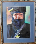 tableau personnages liberte nomadisme freedom nomadism : L'homme bleu (Touareg)