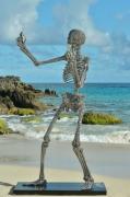 sculpture personnages skeleton squelette inox stainlesssteel : Selfie