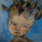 tableau personnages enfant : POUPEE AFRICAINE