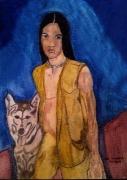 tableau personnages : LE JEUNE INDIEN ET SON CHIEN