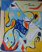 tableau abstrait kandinsky inpiration abstrait acrylique : Inspiration Kandinsky