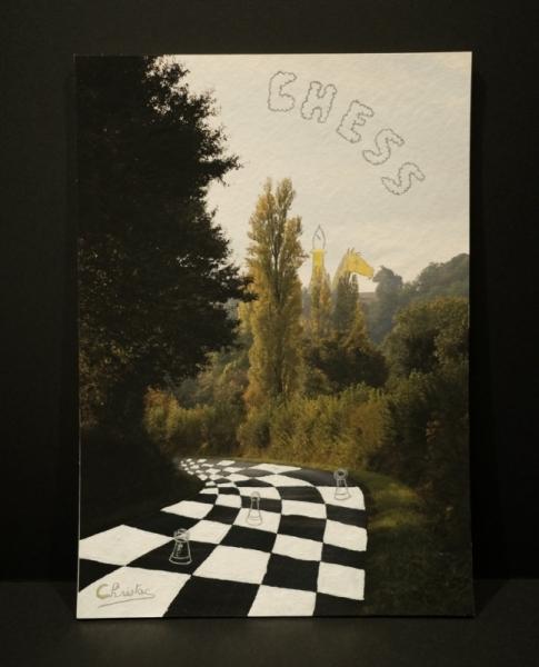 MIXTE naïf échec damier paysage Paysages  - Chess