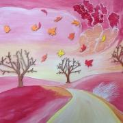 tableau paysages paysage vent arbres : NOVENT