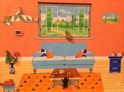 tableau animaux salon chats gateaux : TROIS P'TITS CHATS