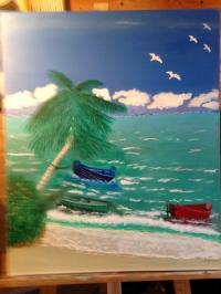 Une plage sous le soleil d'une île