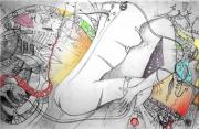 art numerique nus nu numerique abstraction couleurs vives : Complexité