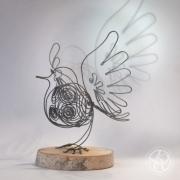 sculpture animaux oiseau bird fil de fer wire : Oiseau fil de fer XL