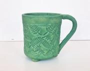 ceramique verre nature morte tasse fougere ceramic mug fern mug tasse en ceramique : Tasse de fougère en céramique
