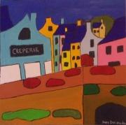 """tableau paysages bretagne pont aven acrylique : """" Pont-aven """""""