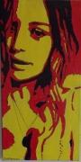 """painting personnages portrait femme : """"belle Julie """""""