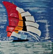 tableau marine : Course d'Imoca