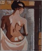"""tableau personnages femme fauvisme nue dos : """" belle Adèle """""""