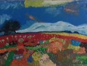 """tableau paysages ete campagne soleil : """" belle journée d'été """""""