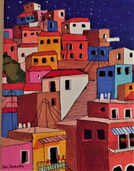 TABLEAU PEINTURE Paysages Acrylique  - Favela