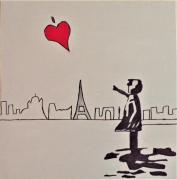 tableau scene de genre : Love Paris