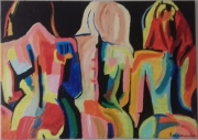 tableau personnages femmes nues fauvisme : les 3 grâces