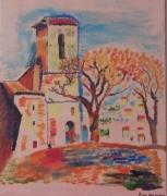 """tableau paysages : """" le vieux clocher """""""