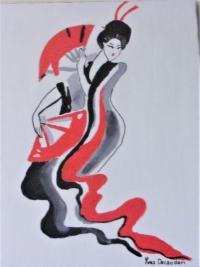 Geisha aux éventails