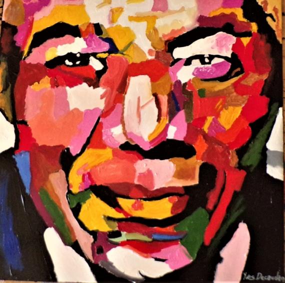 TABLEAU PEINTURE Personnages Acrylique  - Mandela