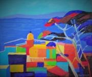 """tableau paysages : """" rêve de St tropez """""""