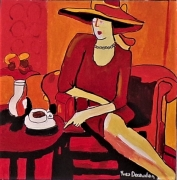 painting personnages : Tea time