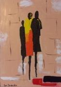 painting personnages : Lèche vitrine