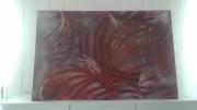 tableau abstrait festivale couleure rose : Marion cindy