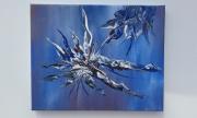 tableau abstrait froid eau imagination : reine des neiges