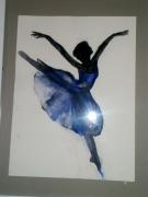 tableau personnages danseuse tutu ballerine elegance : ballerine