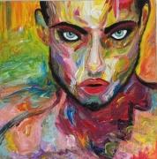 tableau personnages visage homme femme : ANDROGENIQUE