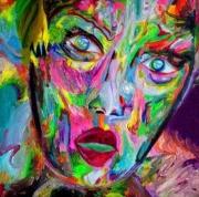 tableau personnages visage couleur fluo : HORRIPILATION