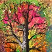 tableau autres arbre nature couleur : Dryade