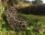 deco design fauteuil acier chaise meuble : Fauteuil acier
