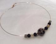 "bijoux autres ras de cou perles indiennes perle naturelle perles swarovski : RAS DE COU ""FAUVE"""