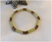 bijoux autres bracelet jade lemon hematite perle de rocaille : BRACELET JADE LEMON