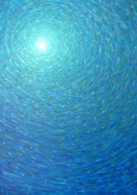 Chaleur bleu vert