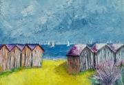 tableau marine normandie mer cabine acrylique : les cabines de ouistréham