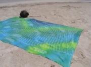 art textile mode marine pareo tahitien poisson coton hand made : Pareo