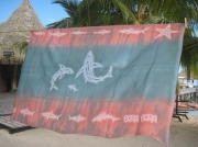 art textile mode marine pareo requin tahiti homme : Pareo