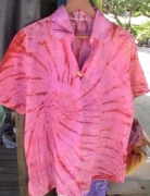 art textile mode autres chemise coton tie amp die hand made tahiti : Chemise