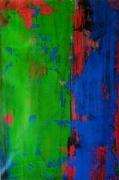 tableau abstrait vert rouge bleu abstrait frash : FRASH......