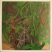tableau fleurs jungle sombre racine gluant : EDEN2