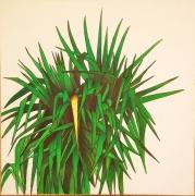 tableau fleurs vert or tentation tableau : l'arbre des tentations