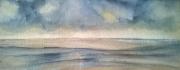 tableau paysages plagemerciel oostendebruggedamm hommagepermeke coucher de soleil : OSTENDE-OOSTENDE BRUGGES DAMME 10